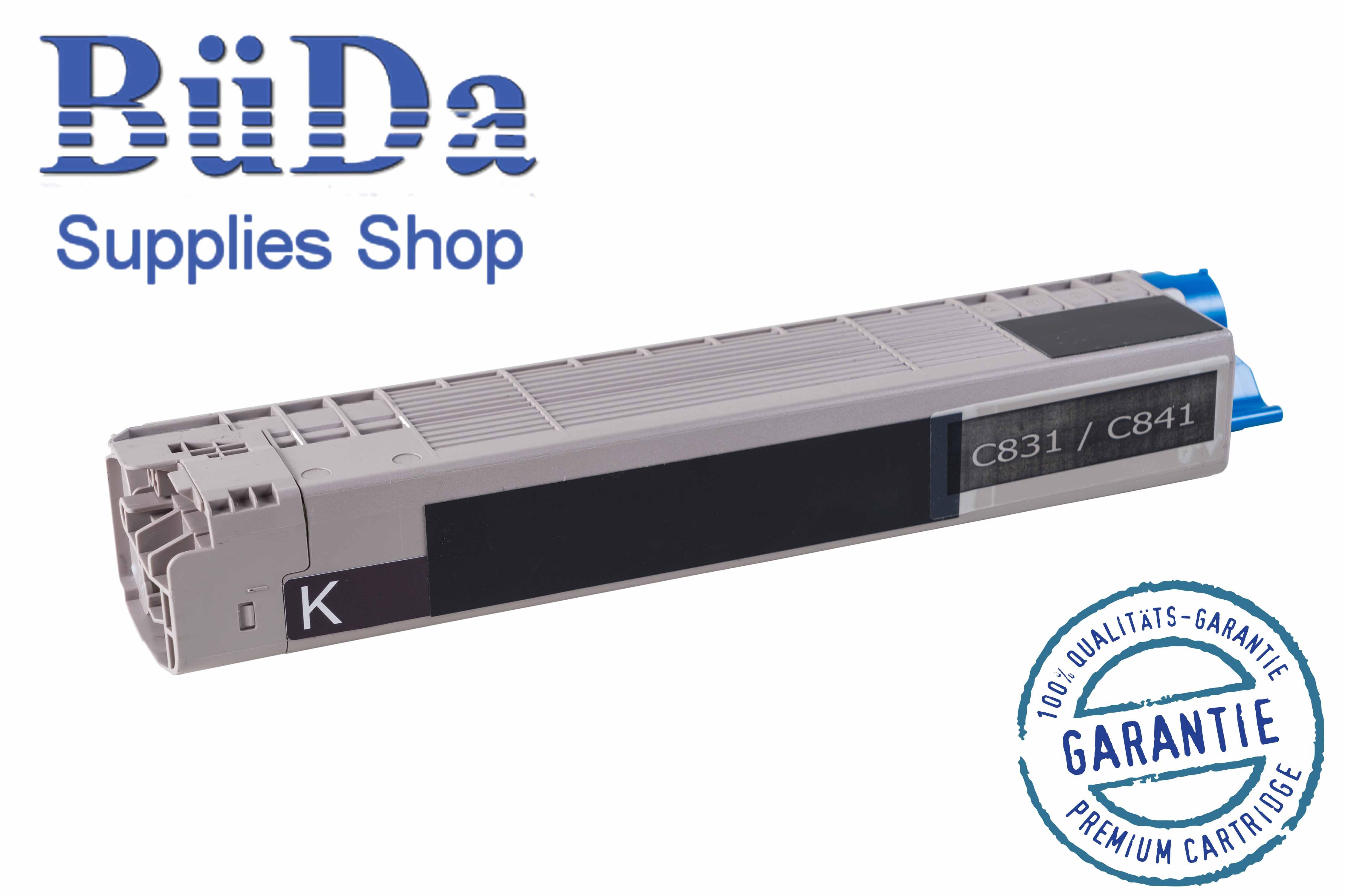 Toner-Modul komp. zu OKI C831 / C841 black 10000 Seiten