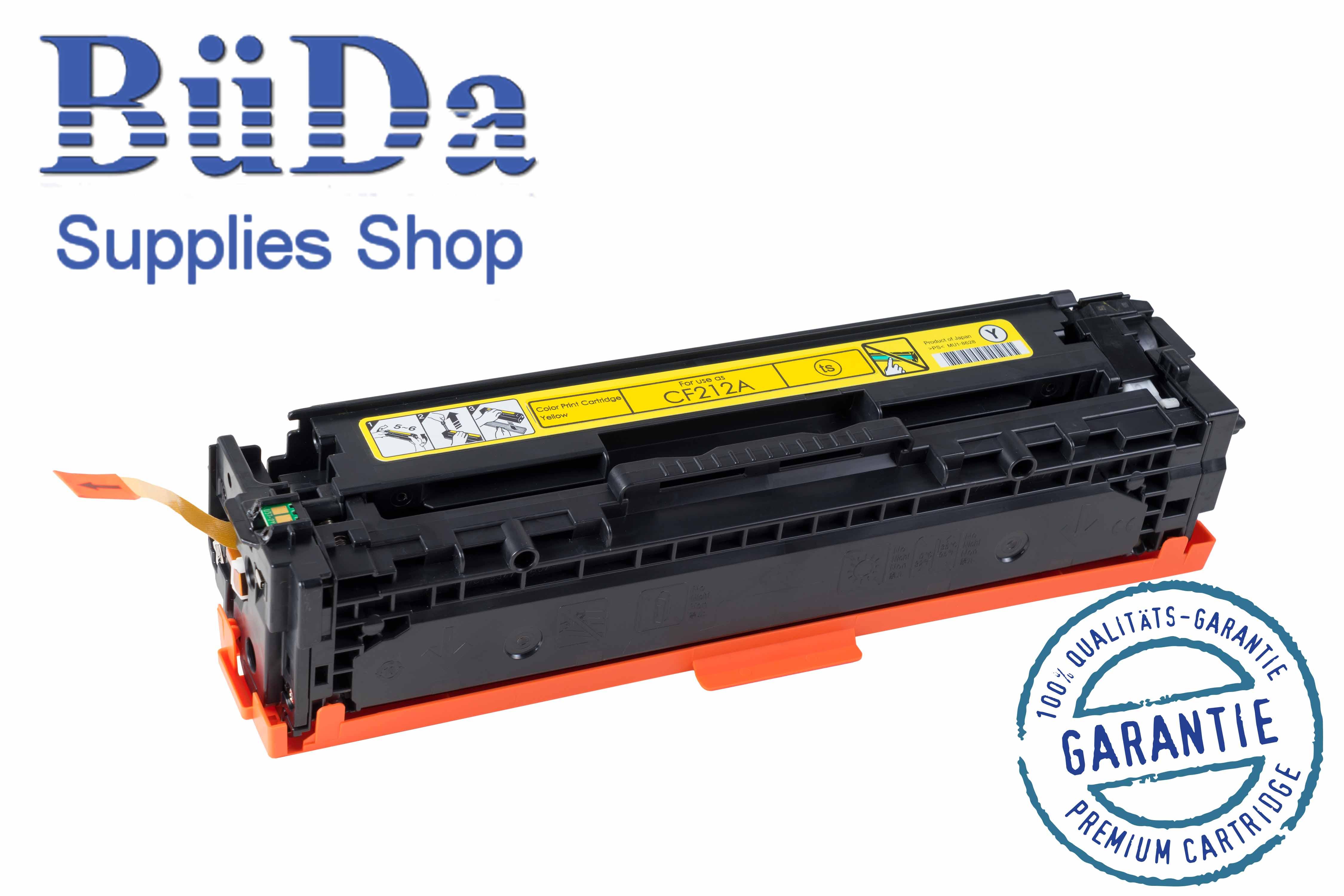 Toner-Modul komp. zu CF212A / CRG 731Y yellow 1800 Seiten