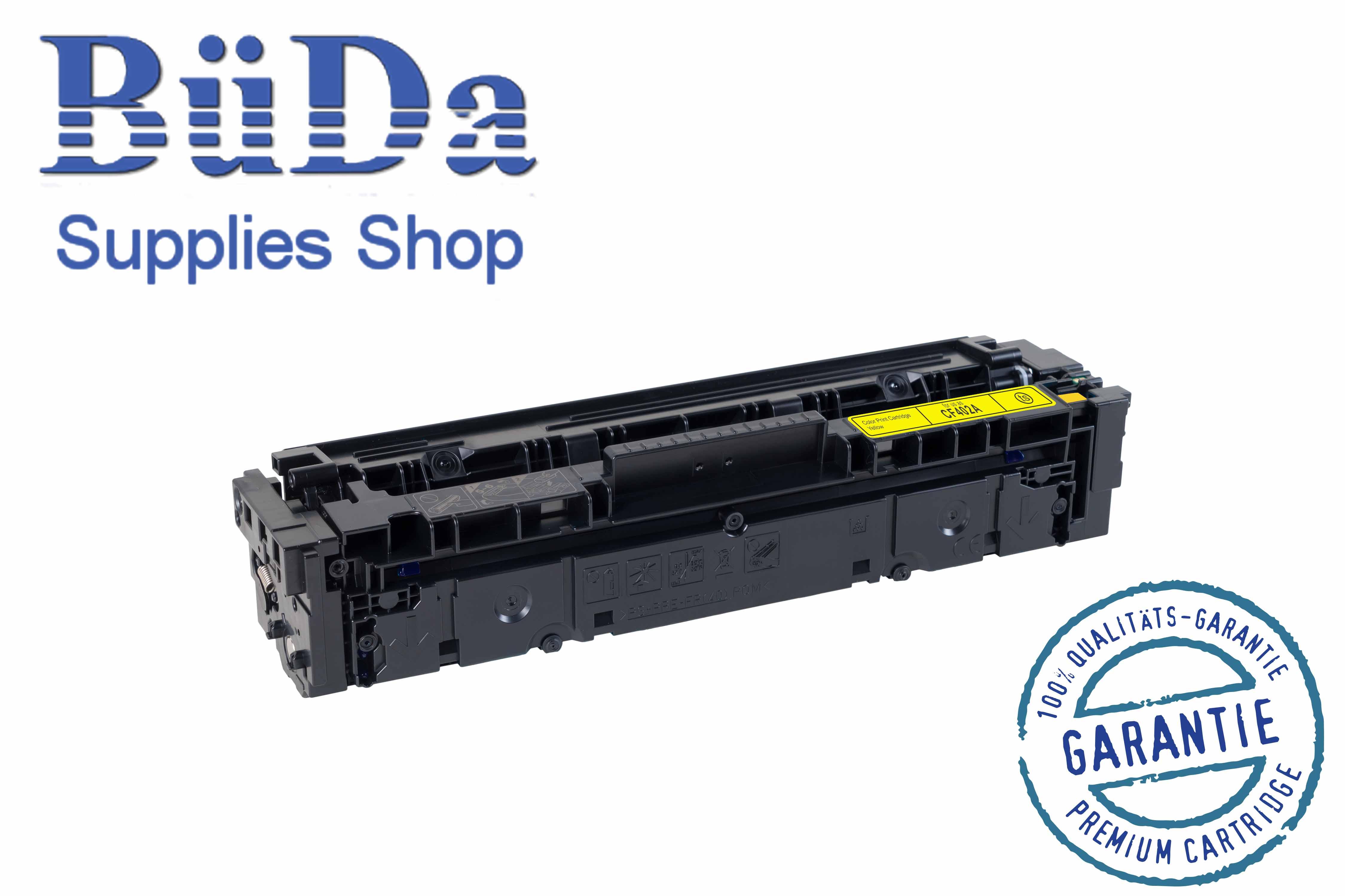 Toner-Modul komp. zu CF402A / CRG 045Y yellow 1400 Seiten