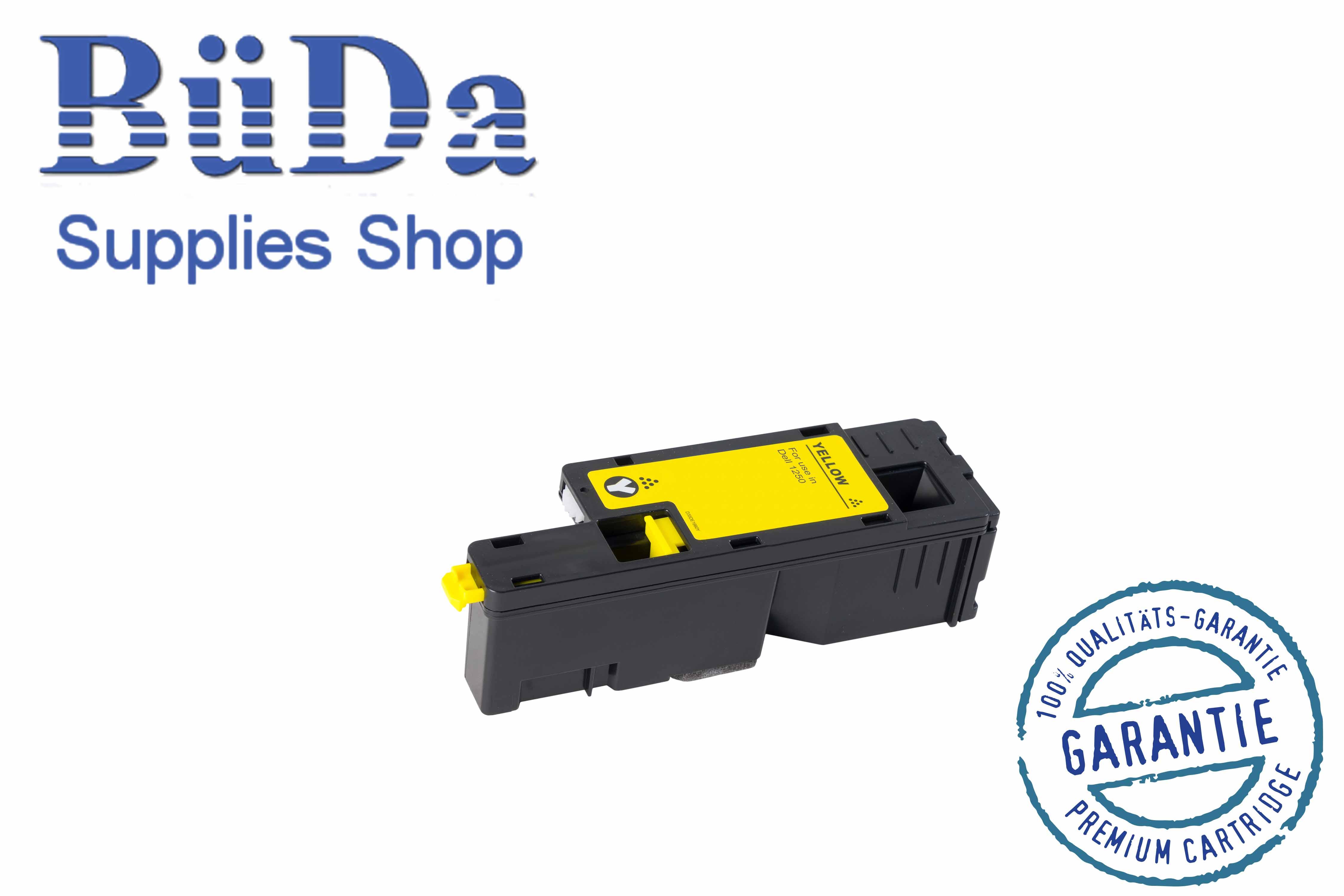 Toner-Modul komp. zu Dell 1250 yellow 1400 Seiten