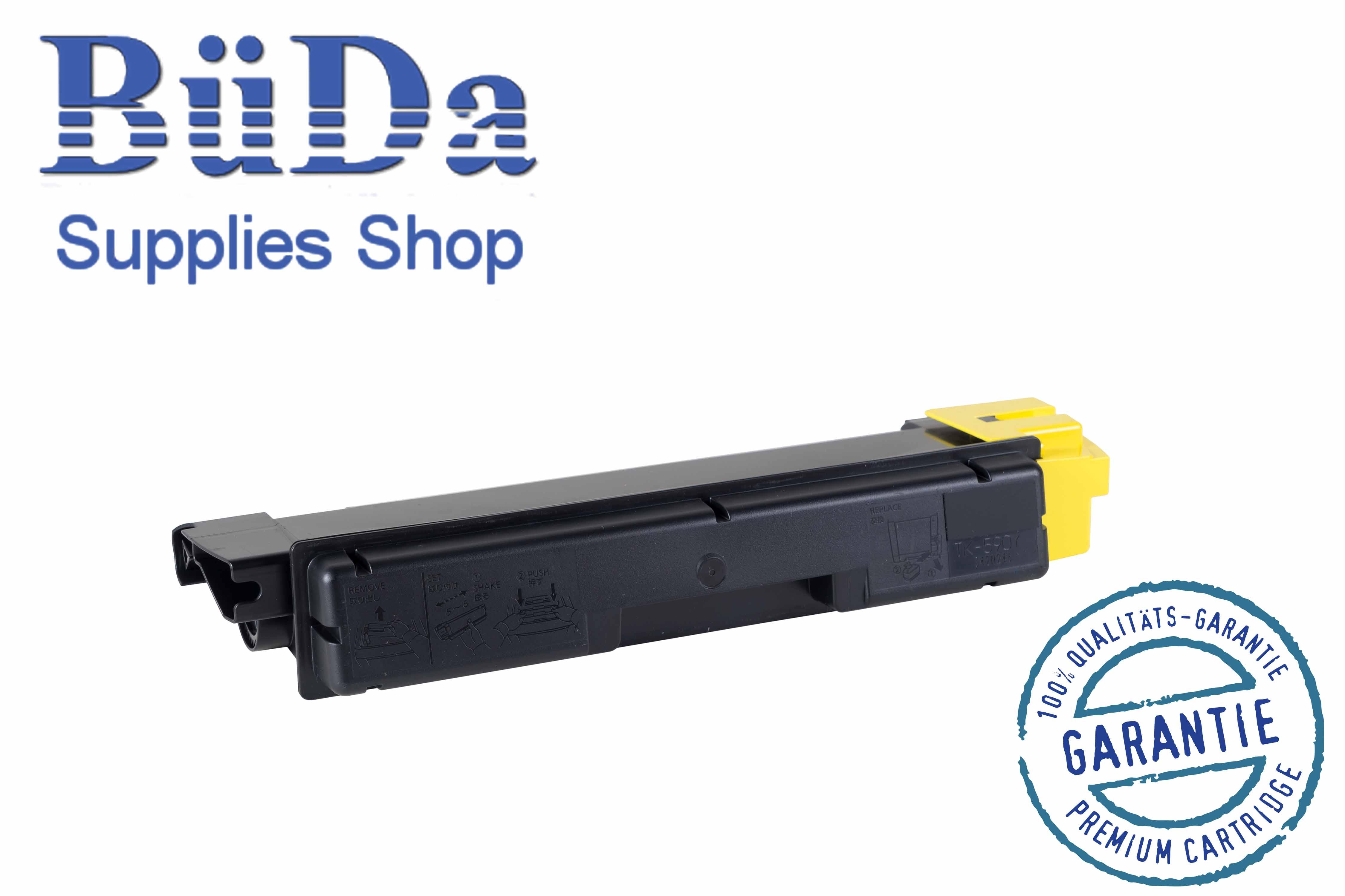Toner-Modul komp. zu TK-590Y yellow 5000 Seiten